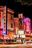San Francisco - Broadway Street Strip Clubs. A vivid red light district nighttime view of the Condor Topless A Go-Go club, along with Big Als and Roaring 20s Stock Images
