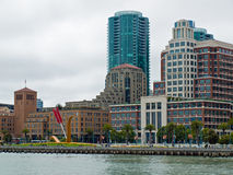 San Francisco Buildings. Viewed the End of the Pier stock photos