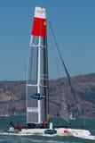 SAN FRANCISCO, CA - 26. AUGUST: Chinesisches Team in der Bucht von San Franc Lizenzfreies Stockfoto