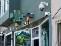 Green cross for a dispensary location in California for sale for of cannabis