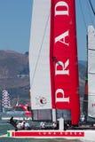 SAN FRANCISCO, CA - 26. AUGUST: Italienisches Team in der Bucht von San Franc Lizenzfreie Stockfotos
