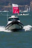 SAN FRANCISCO, CA - 26. AUGUST: Promi-Boot in der Bucht von San Franci Lizenzfreies Stockbild