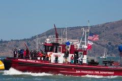 SAN FRANCISCO, CA - 26. AUGUST: Schließen Sie oben vom Phoenix-Feuer-Boot Lizenzfreie Stockfotografie