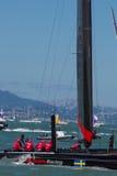 SAN FRANCISCO, CA - 26. AUGUST: Schwedisches Team in der Bucht von San Franc Stockfotos