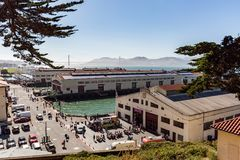 San Francisco, CA - Jul. 17, 2017: Historic Fort Mason, once kno. Wn as San Francisco Port of Embarkation, US Army, is a former United States Army post in San Royalty Free Stock Photo