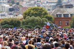Bernie Sanders Presidential political rally in San Francisco royalty free stock photo