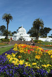 The Conservatory of Flowers building at the Golden Gate Park in San Francisco Royalty Free Stock Images