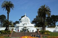 The Conservatory of Flowers building at the Golden Gate Park in San Francisco Stock Photo