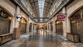 SAN FRANCISCO, CA - September 02, 2014: Farmers market hall inside the Ferry building in San Francisco. Royalty Free Stock Images