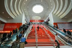 Main entrance to  Oracle OpenWorld conference in Moscone convention center Royalty Free Stock Photos