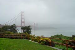 San Francisco, CA, USA - March, 2016: Golden Gate Bridge on foggy morning Royalty Free Stock Photography