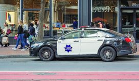 San Francisco Police department car Stock Image