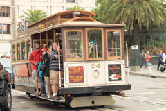 San francisco cable car Stock Images