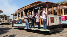 San Francisco Cable Car stock footage