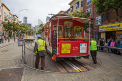 San Francisco Cable Car Foto de Stock Royalty Free
