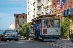 San Francisco Cable Car Royalty-vrije Stock Foto's