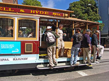 San Francisco, cable car bus Stock Photos