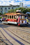 San Francisco Cable Car Hyde & Beach Turnaround Royalty Free Stock Photos