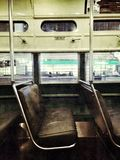 San Francisco Cable Car Interior Royaltyfri Foto