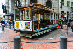 San Francisco Cable Car at Powell Terminal Royalty Free Stock Image