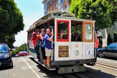 San Francisco Cable Car Russian Hill Imagen de archivo libre de regalías