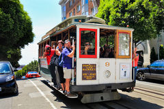 San Francisco Cable Car Russian Hill Royalty Free Stock Image