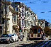 San Francisco Cable Car. The San Francisco cable car system, the world's last manually operated cable car system, was established between 1873 and 1890 royalty free stock photography