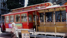 San francisco cable car time lapse Royalty Free Stock Image