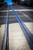 San Francisco Cable car tracks , San Francisco, California, USA. San Francisco Cable car tracks Royalty Free Stock Image
