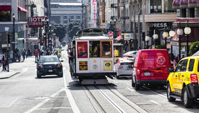 San Francisco The Cable car tram Royalty Free Stock Photography