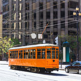 San Francisco Cable car Tram in Market Street California Royalty Free Stock Photo