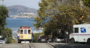 SAN FRANCISCO - The Cable car tram Royalty Free Stock Photography