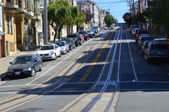San Francisco Cable Cars Road Royalty Free Stock Photo