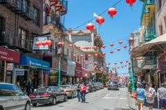 San Francisco, Californië, de V.S. - 18 Juni, 2014: De Stad van China, het grootste en beroemdste gebied van de stad van San Fran Stock Foto's