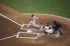 San Francisco, Californië, de V.S., 16 Oktober, 2014, AT&T-Park, honkbalstadion, SF-Reuzen tegenover St Louis Cardinals, National royalty-vrije stock afbeelding