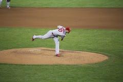San Francisco, Californië, de V.S., 16 Oktober, 2014, AT&T-Park, honkbalstadion, SF-Reuzen tegenover St Louis Cardinals, National stock foto