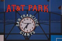 San Francisco, Californië, de V.S., 16 Oktober, 2014, AT&T-Park, honkbalstadion, SF-Reuzen tegenover St Louis Cardinals, National stock fotografie