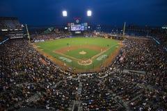 San Francisco, Californië, de V.S., 16 Oktober, 2014, AT&T-Park, honkbalstadion, SF-Reuzen tegenover St Louis Cardinals, National stock afbeelding