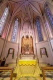 San Francisco, Californië - December 26, 2018: Het Altaar van Kapel van Gunst in Grace Cathedral royalty-vrije stock foto