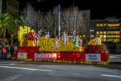 San Francisco, Californië - Februari 11, 2017: De Chinese nieuwe parade van de jaarviering in de populaire en kleurrijke Chinatow Royalty-vrije Stock Afbeeldingen