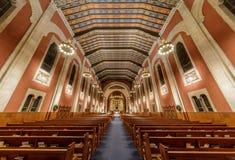 San Francisco, California - 1° dicembre 2018: Vista interna della st Cecilia Church dall'entrata di Vicente fotografie stock