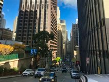 San francisco, california, america. 04/05/2019 walking in china town in san francisco. Look in too the city of san francisco, traffic lights, people, cars, and stock image