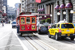 San Francisco, California, The Cable car tram Stock Photo