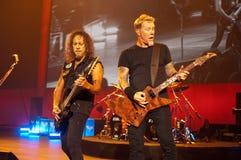 Metallica en el centro 2011 de Moscone Fotos de archivo libres de regalías