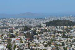 San Francisco California. East San Francisco California from Twin Peaks Royalty Free Stock Photo