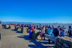 San Francisco, California - 11 febbraio 2017: Punto di vista scenico dei turisti che trascurano San Francisco dalla vista del nor Immagini Stock