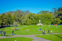 San Francisco, California - February 11, 2017: Beautiful Golden Gate Park in San Francisco, the fifth most visited city royalty free stock images