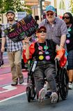 Gay Pride Parade in San Francisco - Blind marches in support Royalty Free Stock Images