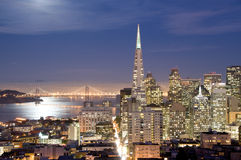San Francisco, California at night Royalty Free Stock Images