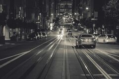 San Francisco, California at night Royalty Free Stock Image
